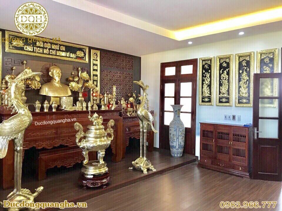đồ thờ cúng bằng đồng mạ vàng