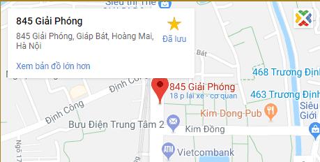 bản đồ đến 845 giải phóng - đúc đồng quang hà