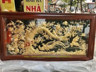 Tranh vinh hoa phú quý dát vàng 9999